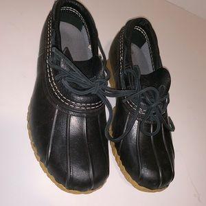 LL Bean Navy Duck boots size 6